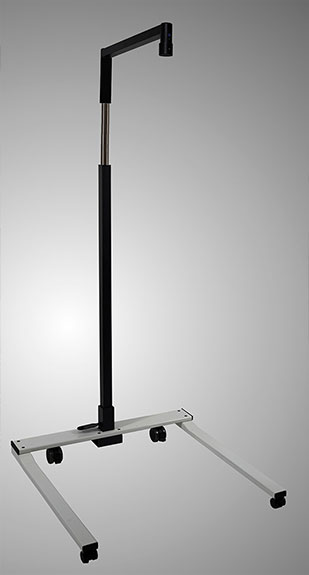 Mobile carrier system for infrared spots in physiotherapy
